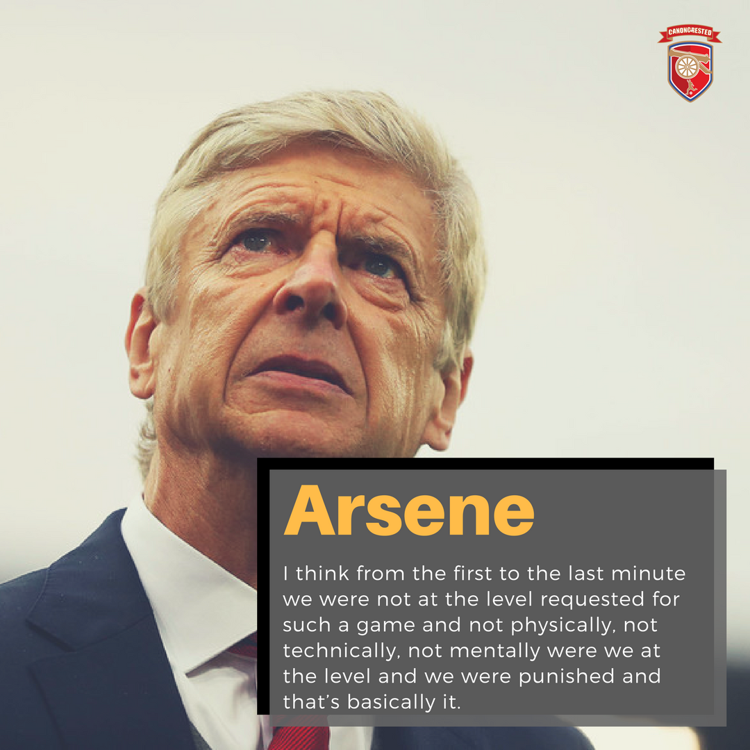 No Arsene!! Game was lost before the first minute