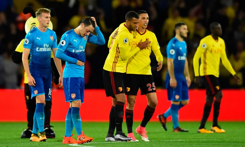 Arsenal lose their grip and all three points at Watford