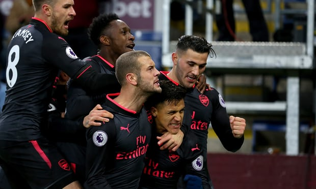 Arsenal snatch three points at the death at Turf Moor