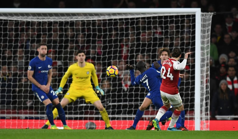 Ref decides for a draw in end to end Arsenal match against Chelsea
